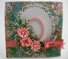 Spellbinders und Rayher Stampaggio e goffratura stencil: ovale cornice decorativa
