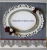 Spellbinders und Rayher Estampación y cliché de estampado: marco decorativo ovalada