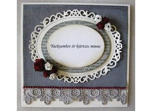 Spellbinders und Rayher Stamping and embossing stencil: oval decorative frame