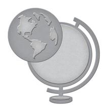 Stanz- und Prägeschablone: die Weltkugel
