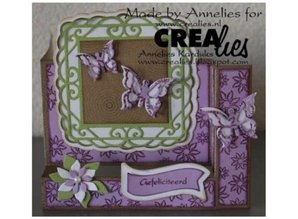 Crealies und CraftEmotions Metal skæring dør, for Pop-Up Cards!