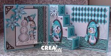 Crealies und CraftEmotions Taglio del metallo muore, per Pop-up Cards!