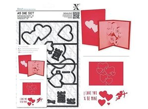 X-Cut / Docrafts X-cut, punch template, A5 Set (11pcs) - Pop Up Card Love