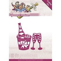 Ponsen en embossing sjabloon: Champagne