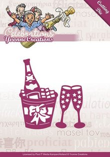 Yvonne Creations Stansning og prægning skabelon: Champagne