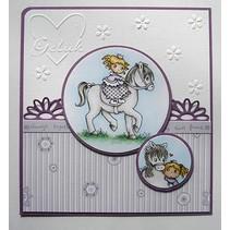 Transparent stamp: My Little Horse