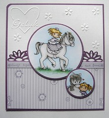 Joy!Crafts und JM Creation Transparent stempel: My Little Horse