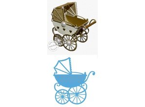 Marianne Design Punching and embossing template: stroller