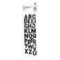 Troquelado y estampado en relieve plantilla: las letras del alfabeto -