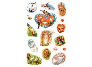 Sticker creative Sticker, Frühlingsvögel