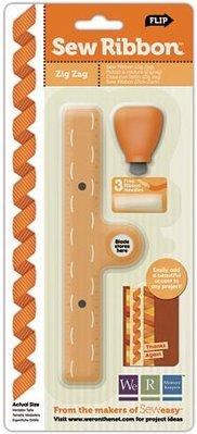 BASTELZUBEHÖR / CRAFT ACCESSORIES Sew Ribbon Tool and Stencil, ZigZag, Werkzeug