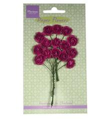 Marianne Design Fiore di carta, rose, rosa scuro