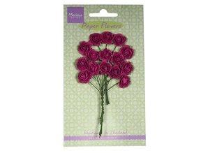 Marianne Design Paper Flower, roser, mørk pink