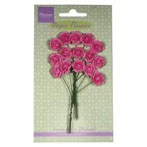 Flor de papel, rosas, rosa