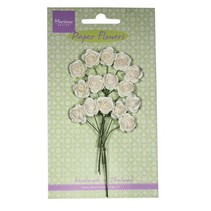 Paper Flower, Rosen, weiss