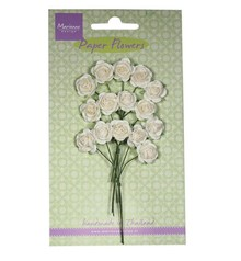 Marianne Design Paper Flower, Rose, Hvid