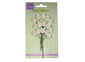 Marianne Design Flor de papel, rosa, blanco
