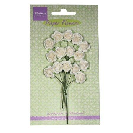 Marianne Design Paper Flower, Rose, Hvid
