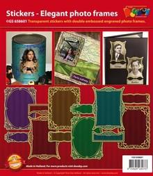 Sticker Zierrrahmen, Transparent Sticker