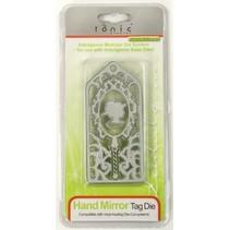 Troquelado y estampado en relieve plantilla: Espejo de mano Día El