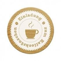 Woodies postzegels, uitnodiging voor koffie partij