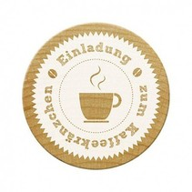 Woodies stamps, invitation to coffee party