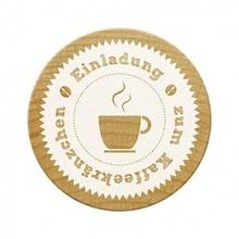 Stempel / Stamp: Holz / Wood francobolli Woodies, invito alla festa caffè