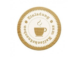 Stempel / Stamp: Holz / Wood Woodies stamps, invitation to coffee party