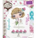Crafter's Companion Stempelset + Basis Steppkarte: Mädchen mit Cupcake