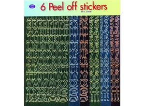 Sticker Sticker set: letters and numbers!
