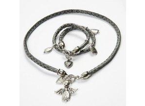 Schmuck Gestalten / Jewellery art 10 Endkappe, Größe 11x20 mm, antiksilber