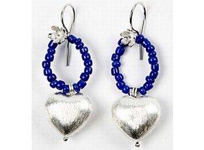 Schmuck Gestalten / Jewellery art 4 Exklusive Perle, Herz, Größe 15x10x7 mm