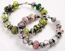 Schmuck Gestalten / Jewellery art 24 different glass beads