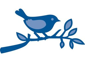 Marianne Design Punching and embossing template: Bird on a branch