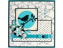 Marianne Design Troquelado y estampado en relieve plantilla: Pájaro en una rama