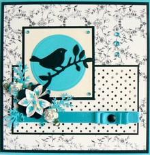 Marianne Design Stanz- und Prägeschablone: Vogel auf ein Zweig