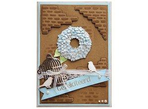 Joy!Crafts und JM Creation Troquelado y estampado en relieve plantilla: piezas de piedra