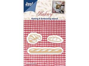 Joy!Crafts und JM Creation Stansning og prægning skabelon: brød, fransk brød og croissanter