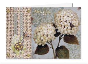 BASTELSETS / CRAFT KITS: Bastelset: Forår blomster på transparent papir