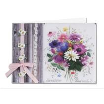 Flores de primavera en papel transparente: Bastelset