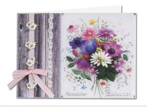 BASTELSETS / CRAFT KITS: Bastelset: Frühlingsblumen auf transparentpapier