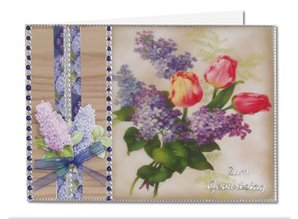 BASTELSETS / CRAFT KITS: Flores de primavera en papel transparente: Bastelset
