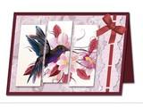BASTELSETS / Craft Collection / CRAFT KITS: Staf Wesenbeek, Willem Haenraets en viele anderen. Bastelset: Triptychonkarten (dreifach gefaltete Karten) mit Blumen