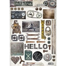 A4 Gestantzte 3D Bogen: Industrial