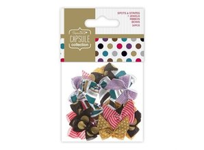 Embellishments / Verzierungen 20 loops with dots and stripes