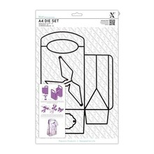 X-Cut / Docrafts A4 punching and embossing template: a 3D pocket!