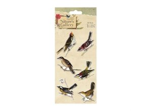 Docrafts / Papermania / Urban 3D birds, 6 pieces