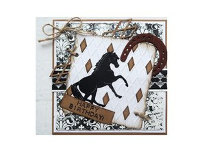 Marianne Design Punching and embossing template: Horseshoe