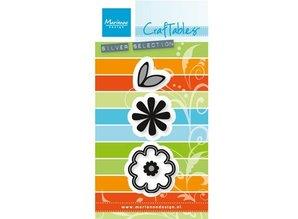 Marianne Design Stempling og prægning stencil: Flower sæt: Sød