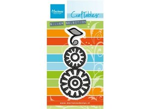 Marianne Design Stamping and embossing stencil: Flower set: Funky